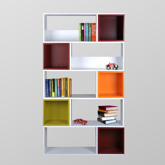 Biblioteca estanteria con cubos de color lemmobile - Estanteria biblioteca infantil ...